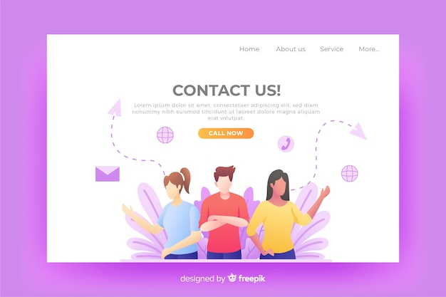Website contact us landing page
