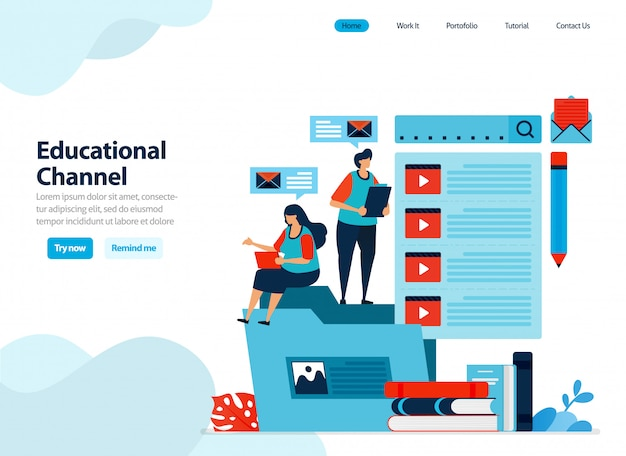 Website design of educational video channel collect and organize learning videos