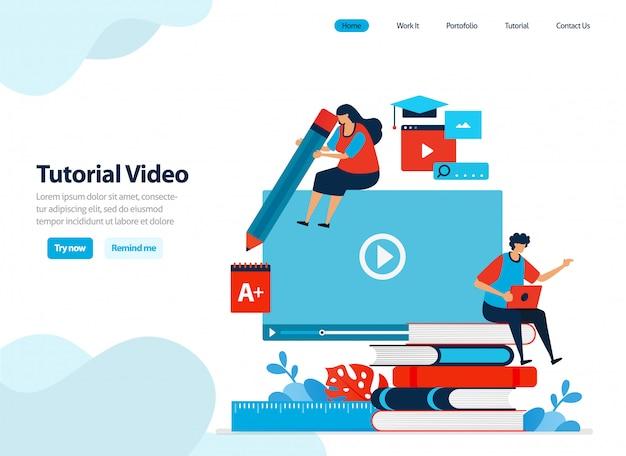 ビデオチュートリアルとウェビナーデジタルコースのウェブサイトデザイン。
