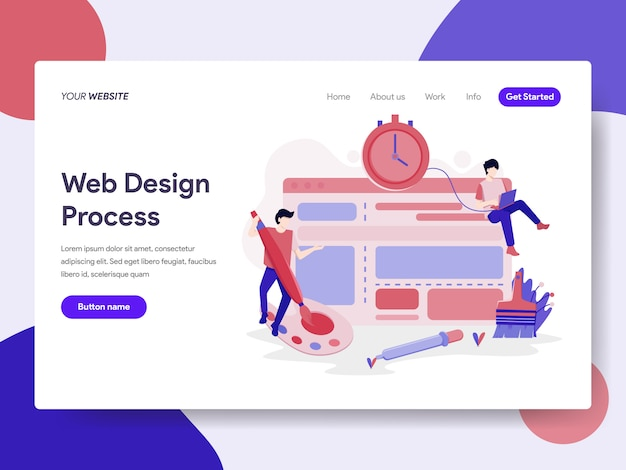 Website design process illustration