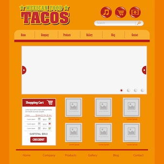 ウェブサイトデザインテンプレート