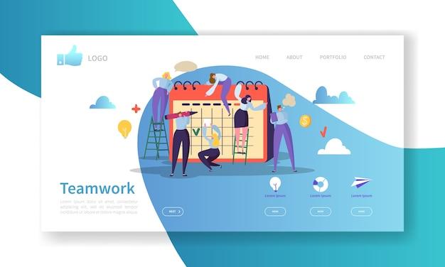 Плакат с шаблоном целевой страницы для разработки веб-сайтов