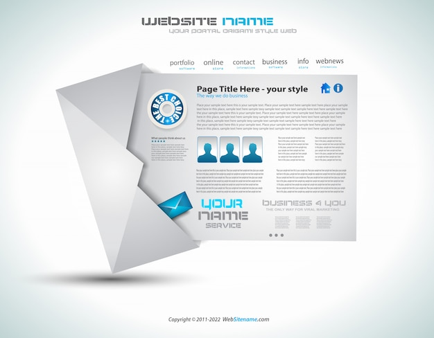 Website - elegant design for business