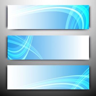 웹 사이트 헤더 또는 물결 모양의 줄무늬가있는 배너.