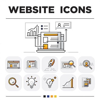 Website icon sets