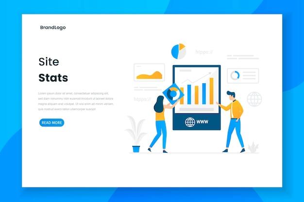 Website illustration landing page performance report