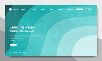 ウェブサイトのランディングページ、抽象的で近代的な背景