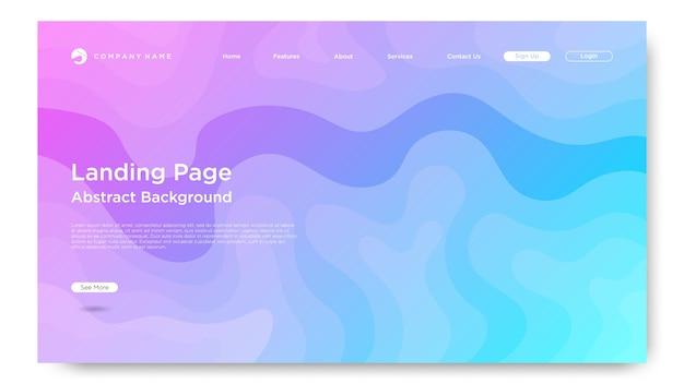 ウェブサイトのランディングページの背景、現代の抽象スタイル