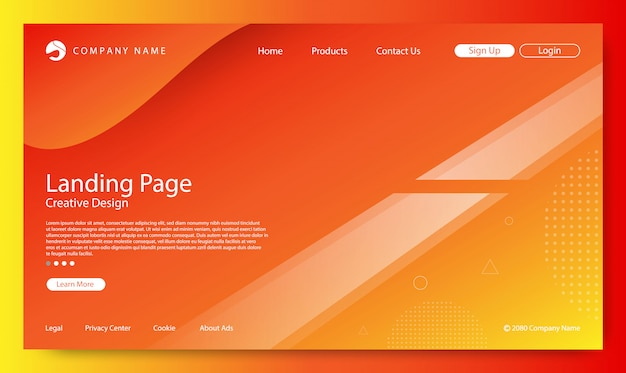 Website landing page background