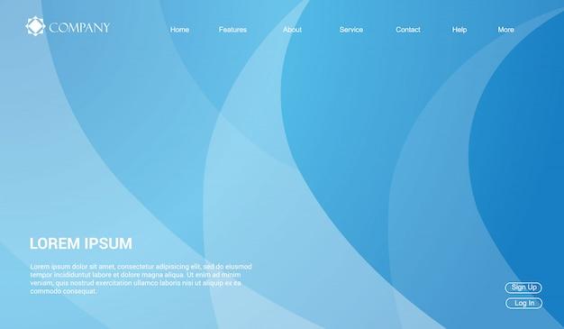 Website landing page background