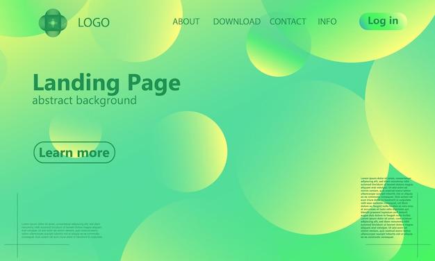 Целевая страница веб-сайта. геометрический фон. минималистичный абстрактный дизайн обложки. креативные красочные обои. модный градиентный плакат. векторная иллюстрация.