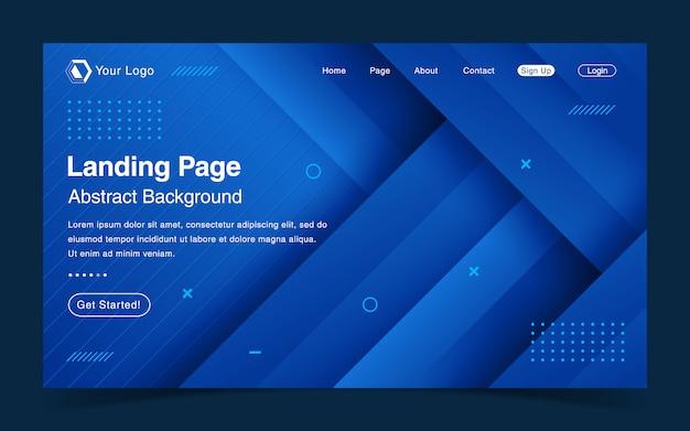 Website landing page template