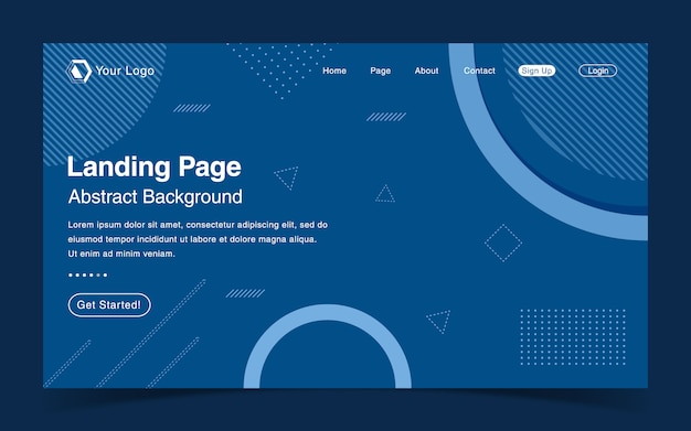 Website landing page template