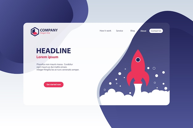 Website landing page vector template design concept