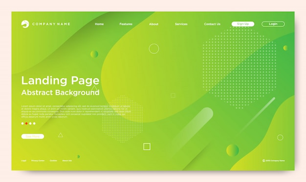 Website landing page