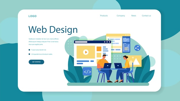 Website layout web banner or landing page
