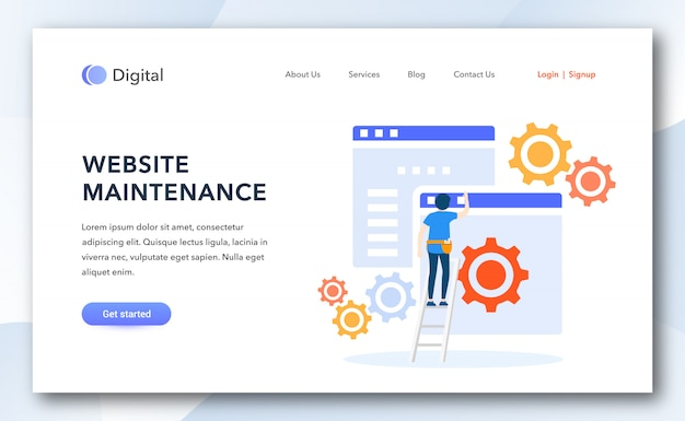 Website maintenance landing page template