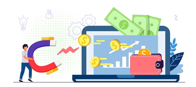Website monetization concept earn money online blog content and generating income with ad placements