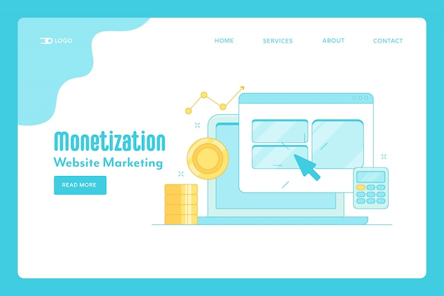 Website monetization landing page