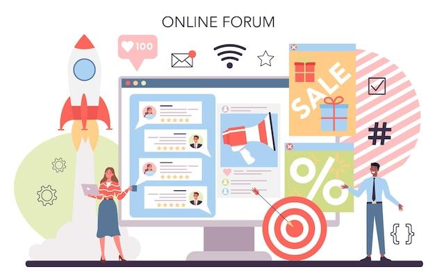 Website promotion online service or platform