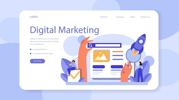 Website promotion web banner or landing page