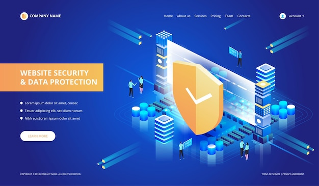 Website security and data protection
