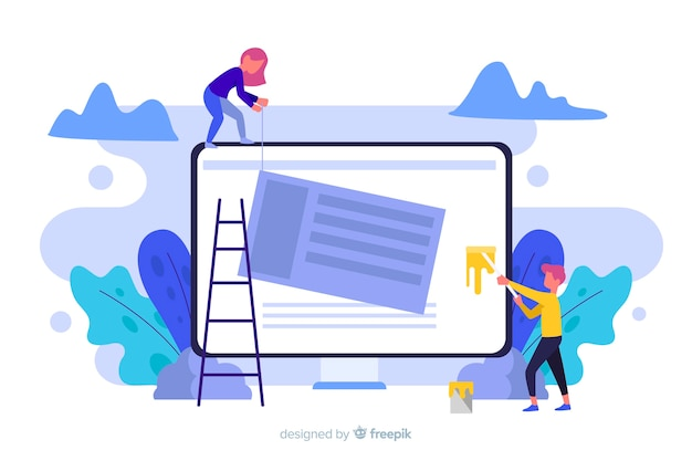ランディングページのウェブサイト設定コンセプト