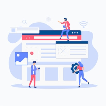 Website setup illustration concept.