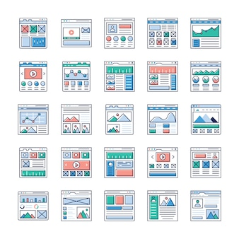 Website sitemaps flat vectors pack is here. if you're interested in web designing, web hosting, videography, web communication and so on hence, grab this opportunity and use in relevant field.
