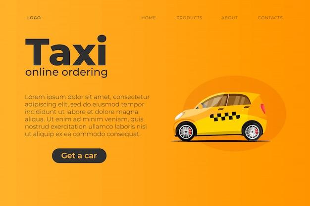 Шаблон сайта тематической страницы такси