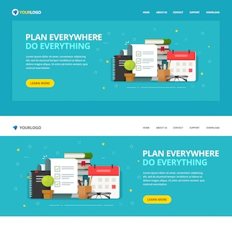 Website template  of to do or check list service