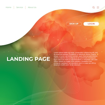 Website template design and landing page line