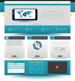 Website template design smartphone concept technology