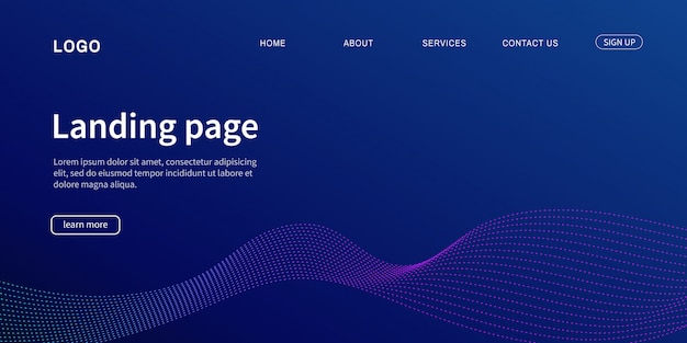 Website template. landing page modern for website.