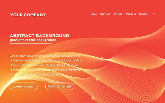 Website template landing page