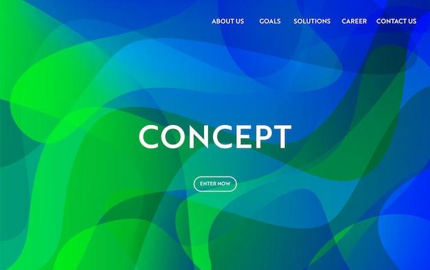 Website template modern flat design. web page layout landing page concept, mobile app, web banner. vector illustration