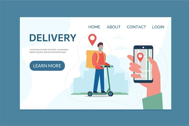 Website template safe delivery service  and application for tracking online orders