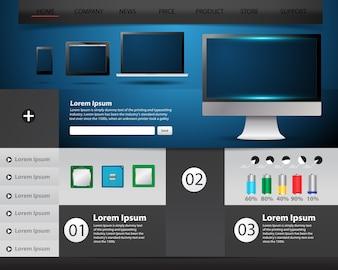 Website template technology concept