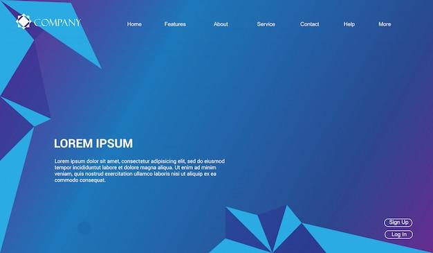 Website template for websites, or apps. landing page minimal modern.
