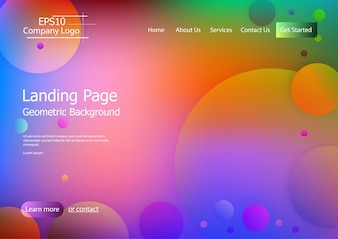 Website template with colorful  geometric shape background Eps10 vector 3