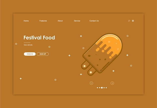 Website template with food background