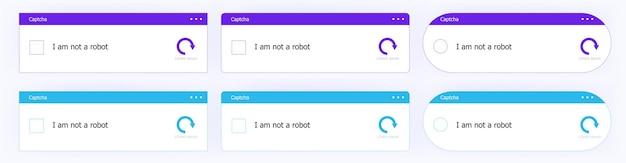 The website template witha captcha. a vector ui designs set.