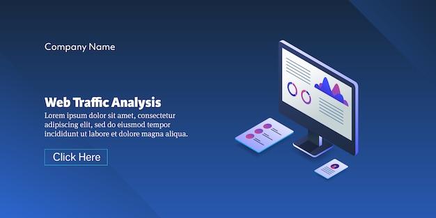 웹 사이트 트래픽 분석 개념 배너