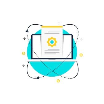 웹 배너 건설 일러스트 디자인에서 웹 사이트