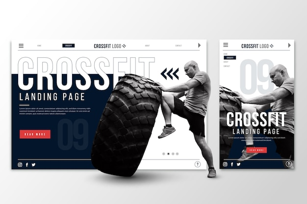 Webtemplate landing page for crossfit