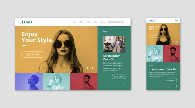 Webtemplate landing page for styles