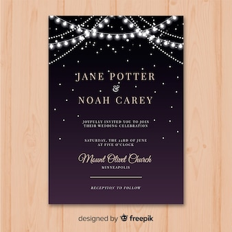 Weddind invitation card template