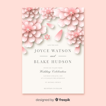 Weddind invitation card template