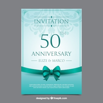 wedding anniversary card in realistic style