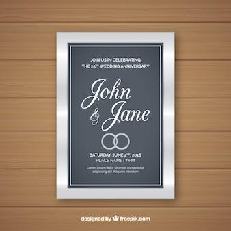 Свадебная юбилейная открытка в реалистичном стиле